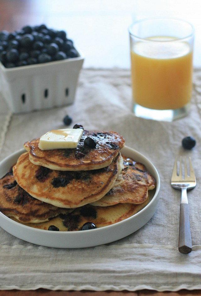 Gluten-Free Buttermilk Blueberry Pancakes