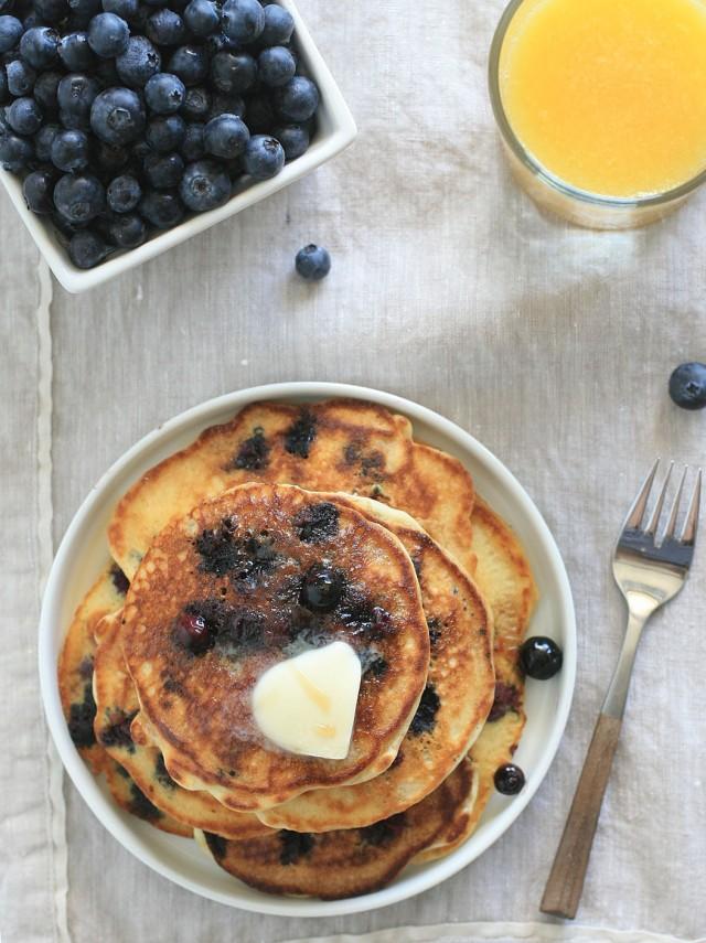 Buttermilk Blueberry Pancakes 2
