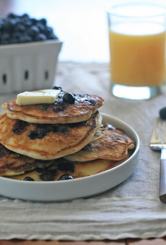 Gluten-Free Buttermilk Blueberry Pancakes