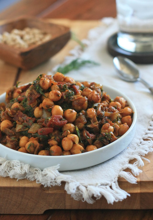 Chickpeas with Dill 1
