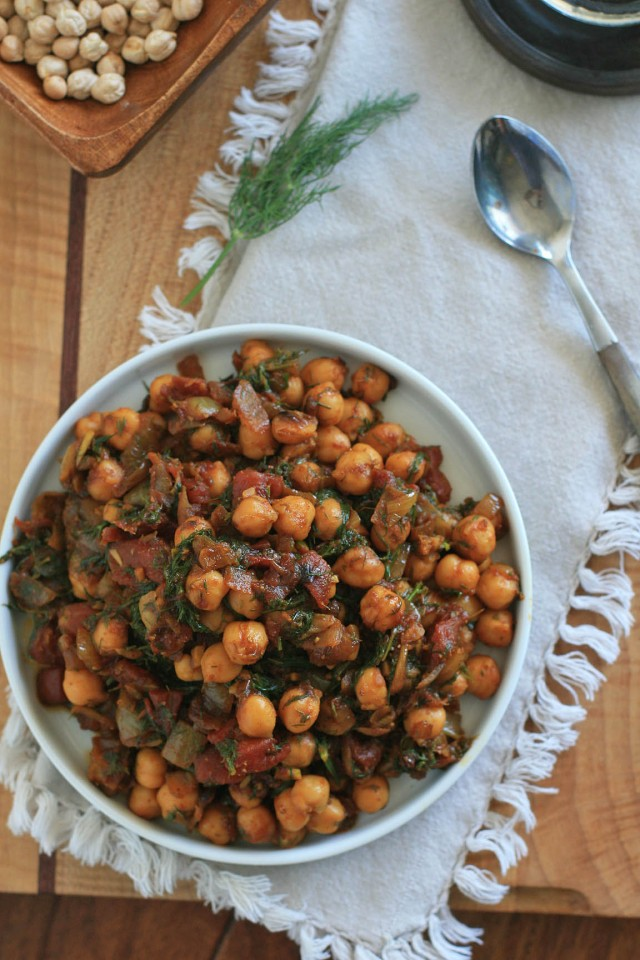 Chickpeas with Dill 2