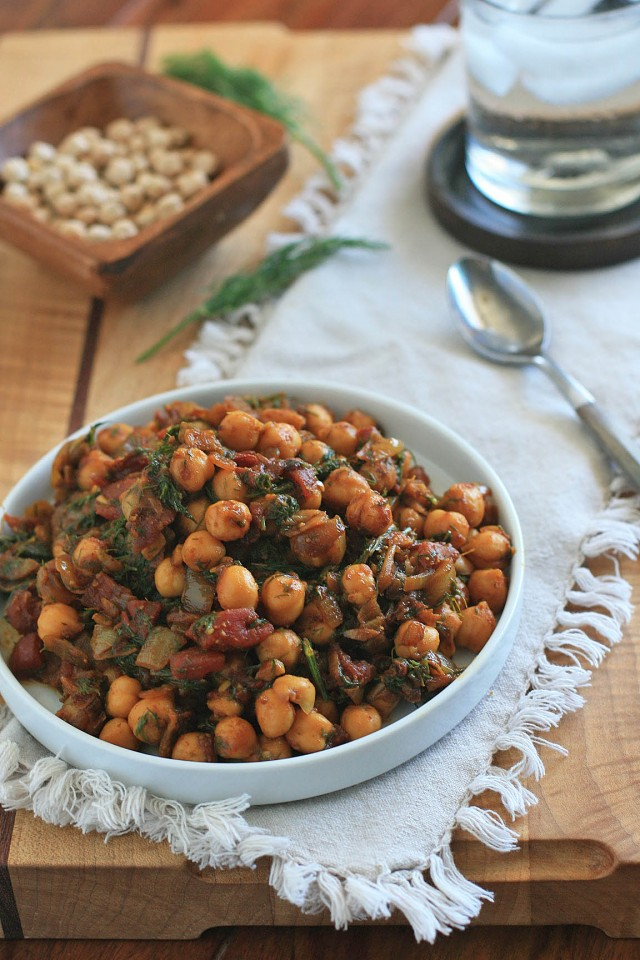 Chickpeas with Dill 3
