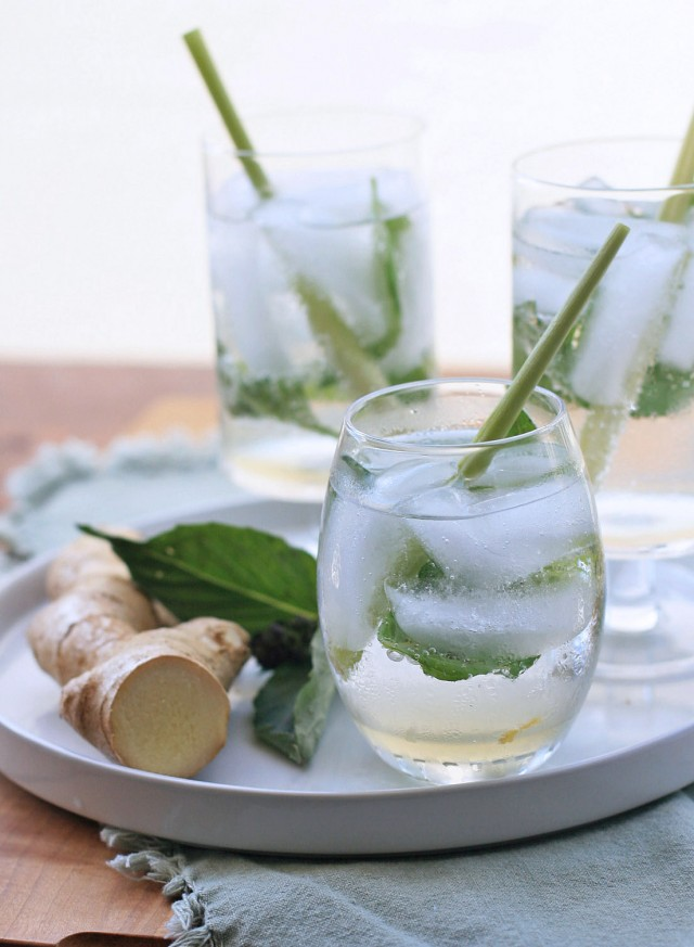 Drink with Ginger Lemongrass Syrup
