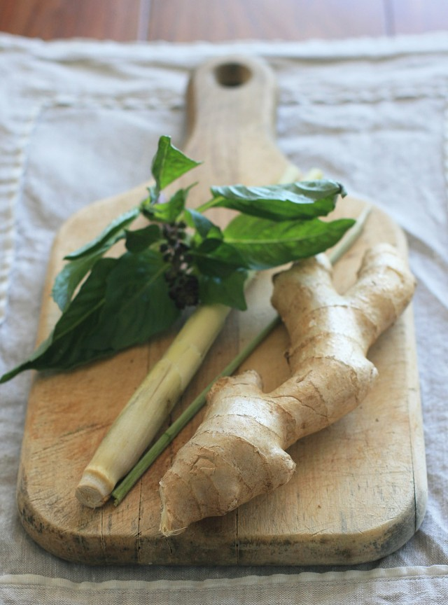 Ginger, Lemongrass and Thai Basil