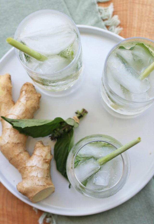 Ginger, Lemongrass and Thai Basil Sparkler