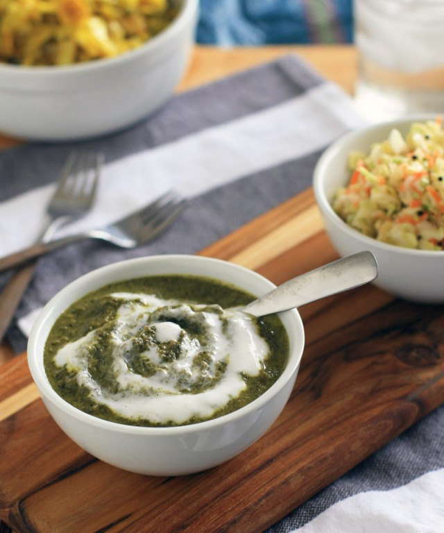 Indian Creamed Chard and Kale