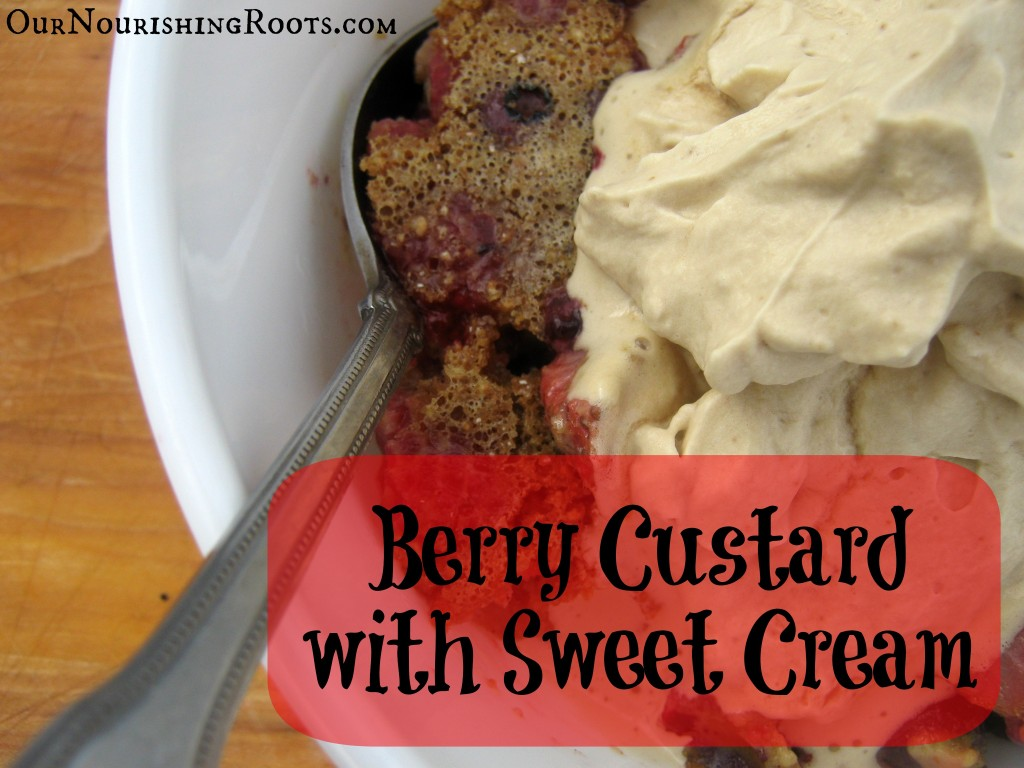 berry custard sweet cream