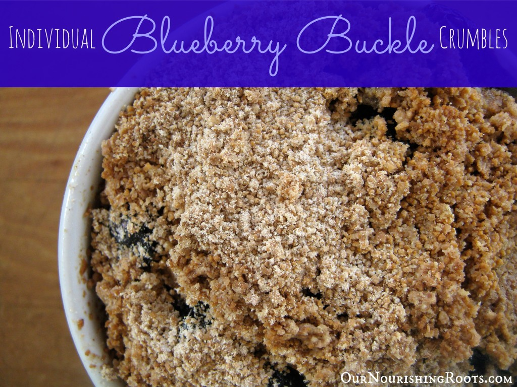 homemade blueberry buckle