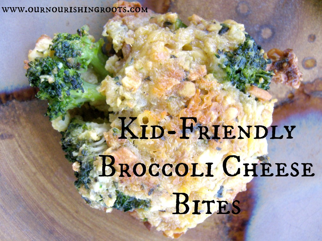 Kid Friendly Broccoli Cheese Bites | OUR NOURISHING ROOTS #kids #snacks #dinner #kidloved
