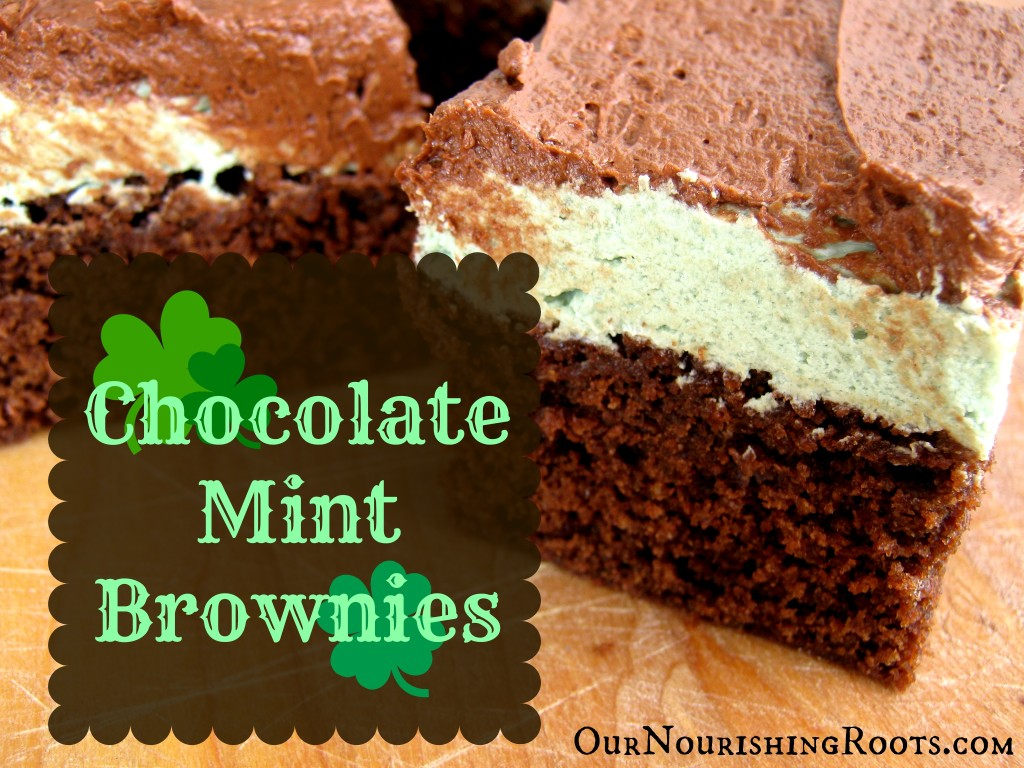 Chocolate Mint Brownies | OUR NOURISHING ROOTS