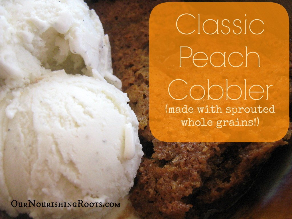 whole grain peach cobbler