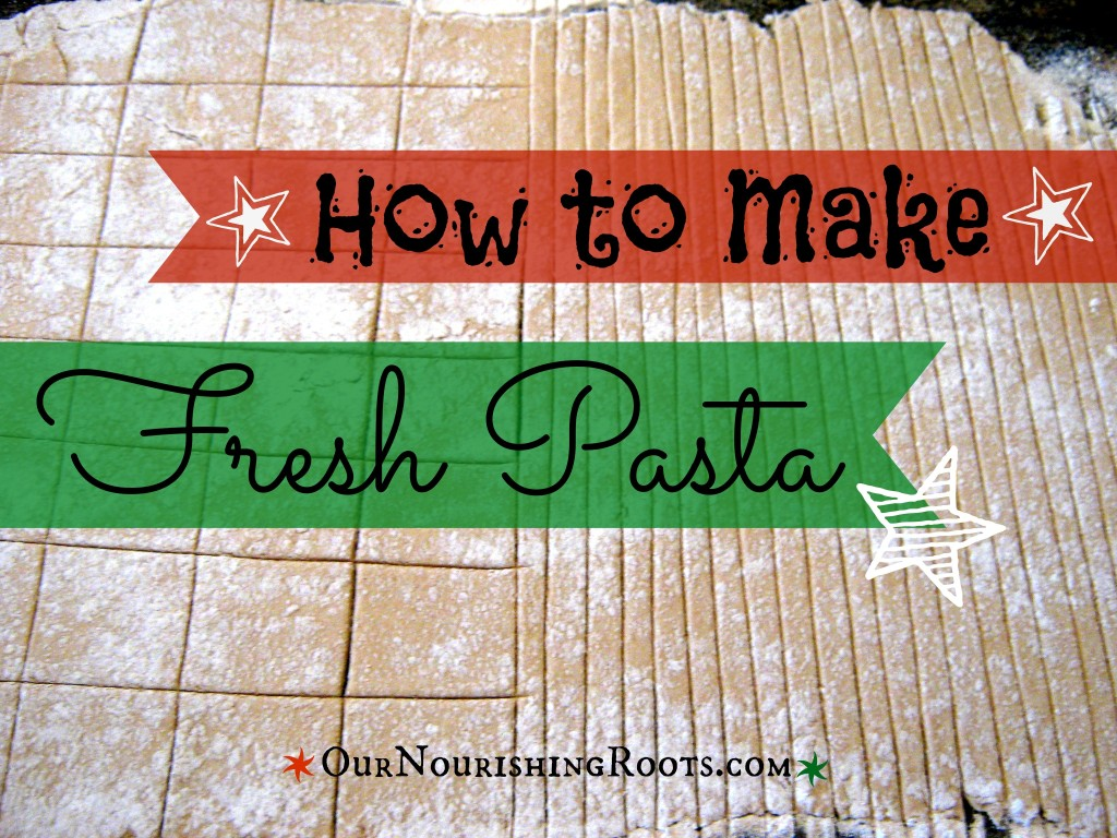 fresh soaked pasta
