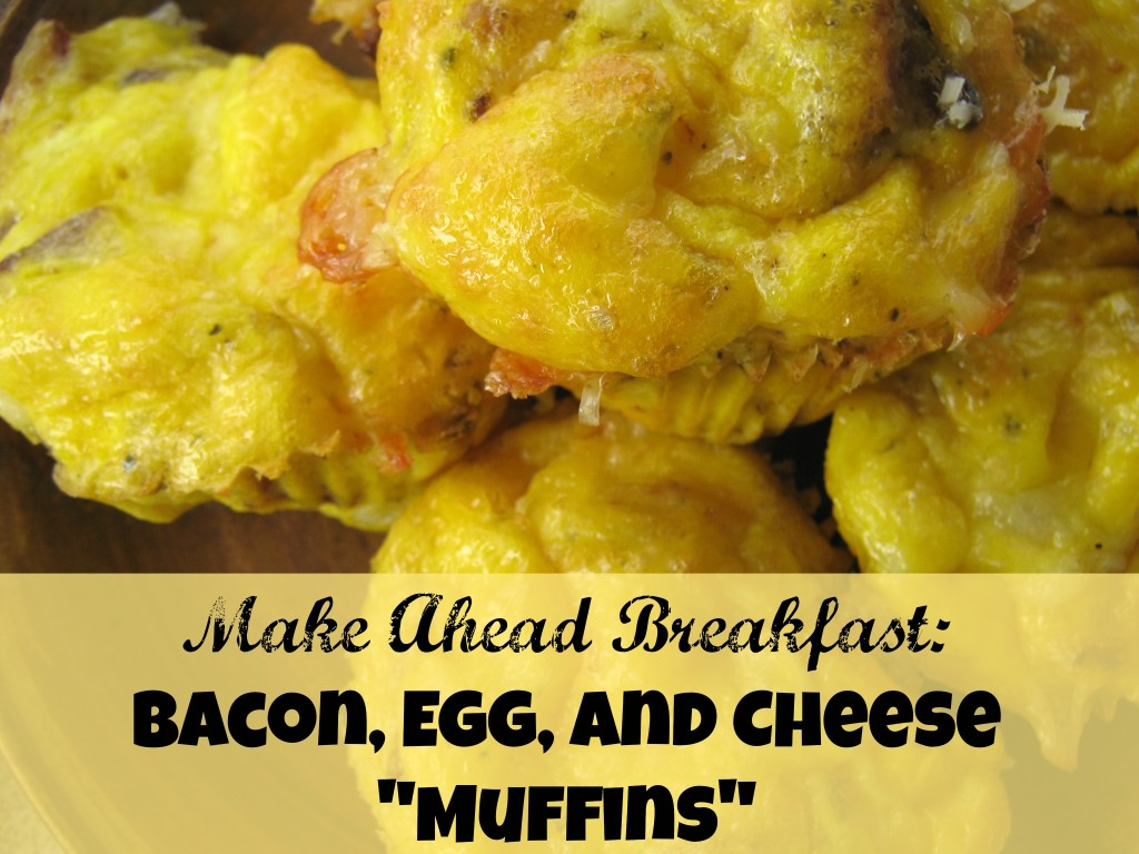 egg bacon cheese muffins