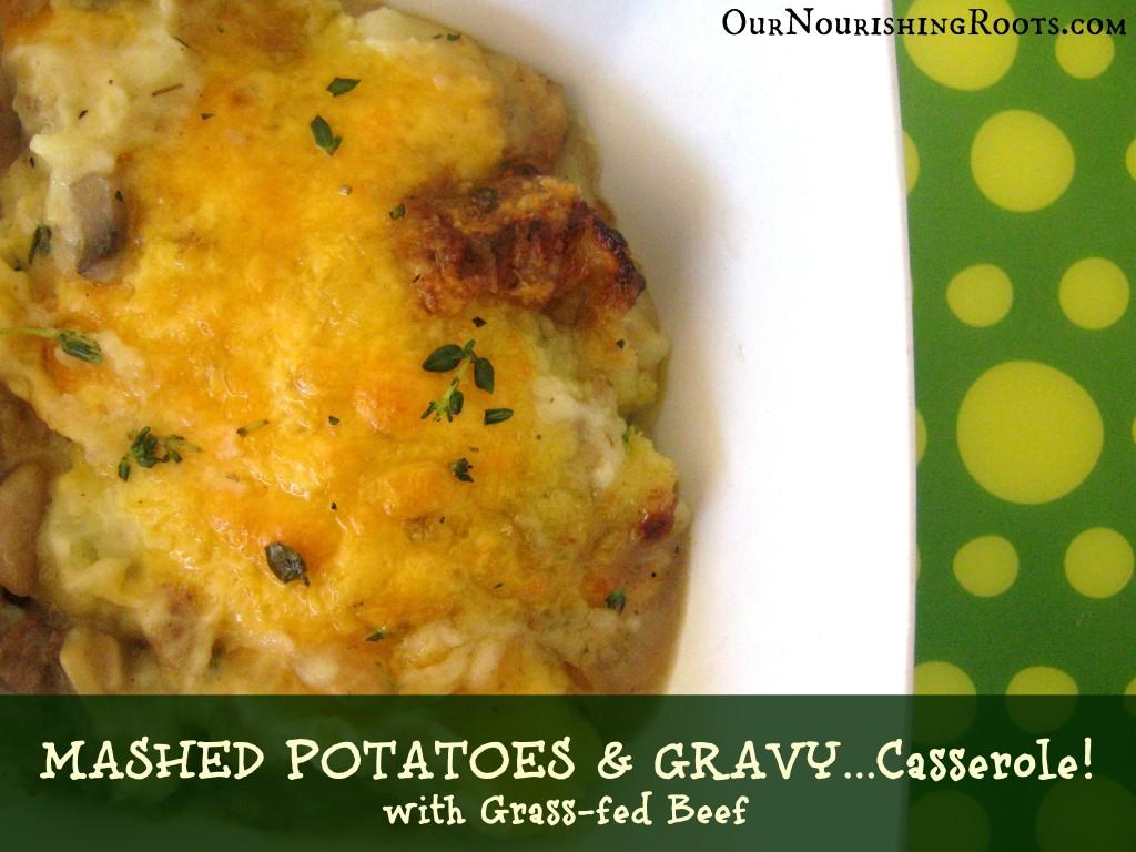 mashed potatoes and gravy casserole