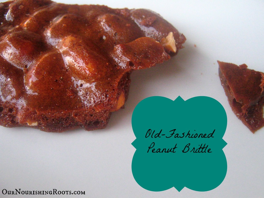 coconut sugar peanut brittle