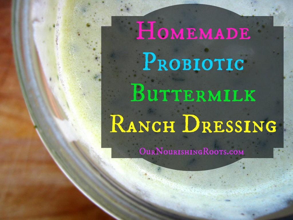homemade buttermilk ranch dressing