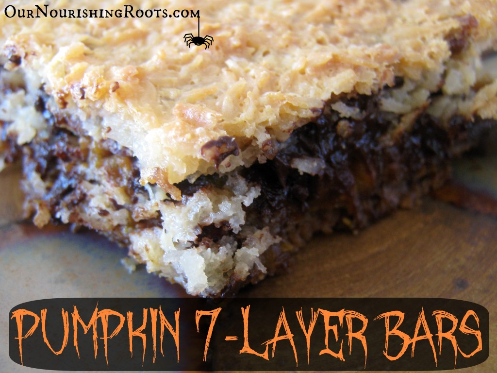 Pumpkin 7-Layer Bars | OUR NOURISHING ROOTS