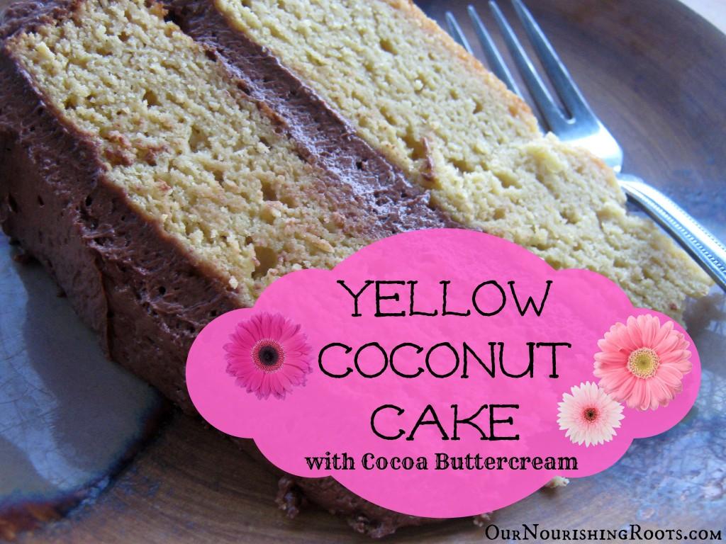 yellowcoconutcakeflowers